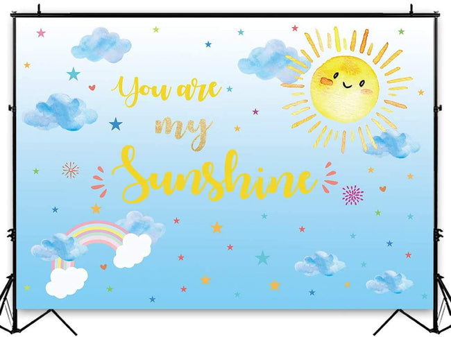 """YOU ARE MY SUNSHINE""  BIRTHDAY PARTY BACKDROP FOR PHOTOGRAPHY BANNER KIDS EVENT CAKE TABLE DECOR HOME DECORATION PHOTO BOOTH BACKGROUND"