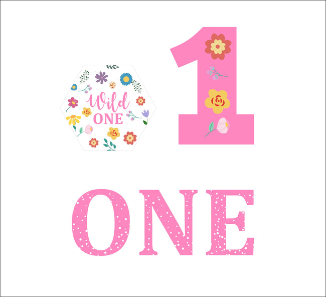 """WILD ONE""-  GIRLS BIRTHDAY CUP CAKE TOPPER(PACK OF 12)"