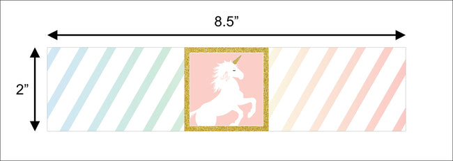 Unicorn - Birthday Party Water Bottle Sticker Labels - Set of 10