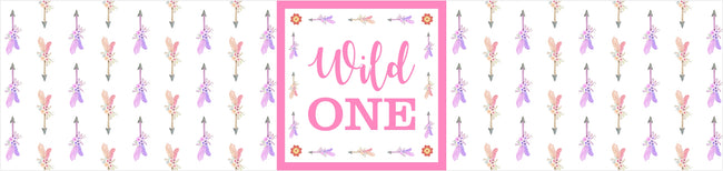 """WILD ONE""-GIRL  BIRTHDAY PARTY WATER BOTTLE STICKER LABELS (SET OF 10)"