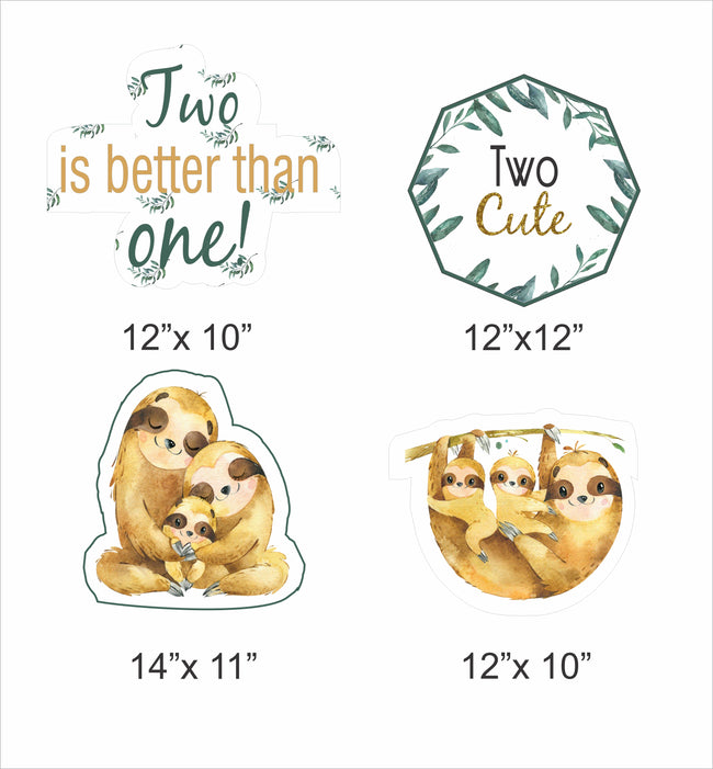"""Twins Baby"" Theme Hanging Set for decoration - Set of 12"