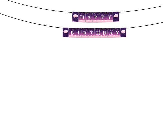 """TWINKLE TWINKLE LITTLE STAR ""-GIRLS BIRTHDAY BANNER DECORATION"