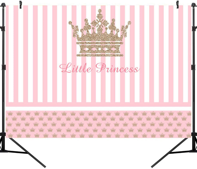 """CROWN PRINCESS""-GIRLS BIRTHDAY PARTY BACKDROP FOR PHOTOGRAPHY BANNER KIDS EVENT CAKE TABLE DECOR HOME DECORATION PHOTO BOOTH BACKGROUND"