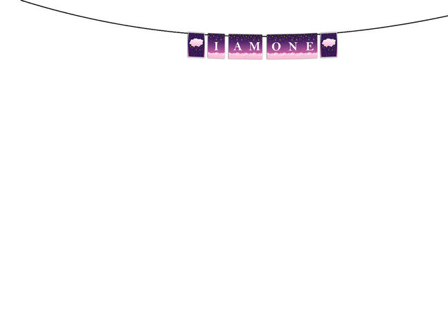 """TWINKLE TWINKLE LITTLE STAR ""-GIRLS BIRTHDAY BANNER"" I AM ONE "" DECORATION"