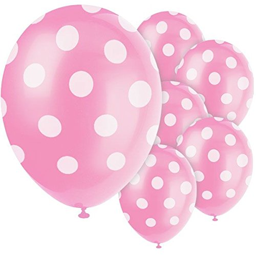 Pink Color Polka Dot Party Balloons- Perfect for Birthday Parties,