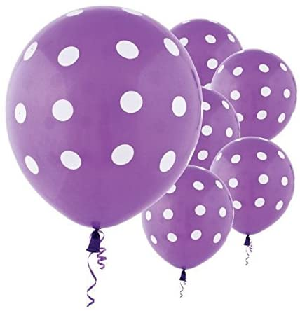 Purple Polka Dot Party Balloons-Birthday Parties,