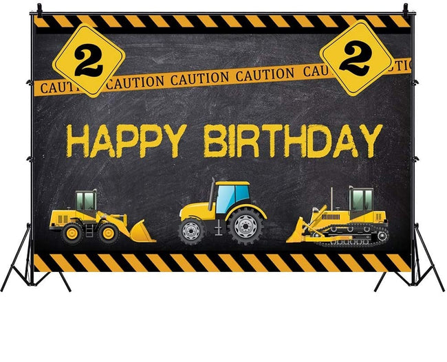 """CONSTRUCTION""  BIRTHDAY PARTY BACKDROP FOR PHOTOGRAPHY BANNER KIDS EVENT CAKE TABLE DECOR HOME DECORATION PHOTO BOOTH BACKGROUND"