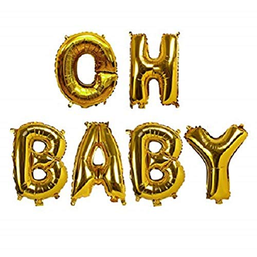 """OH Baby"" Letter Balloons Balloons for Baby Shower Decoration"