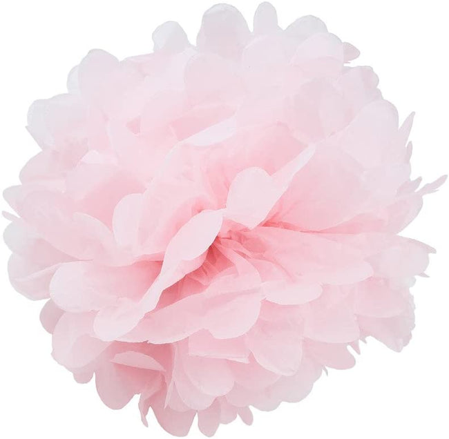 Dark Pink ,Light Pink And White Pom Pom Flower Decoration -Girl Baby Welcome, Girls Birthday Party