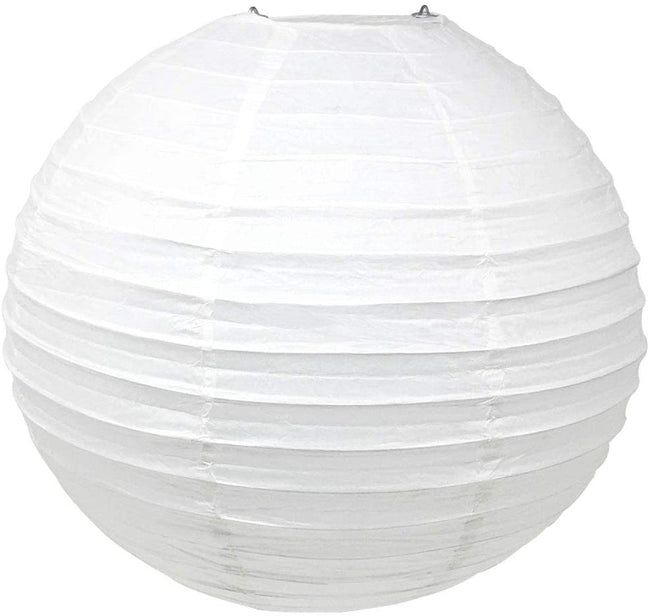 "White Paper Lanterns -12""inch  GREAT FOR BIRTHDAY PARTIES, WEDDINGS OR BABY SHOWER"