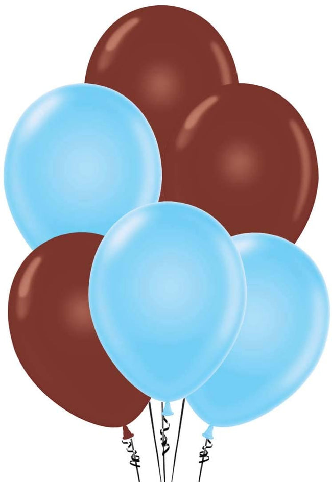 Blue and Brown  Party Balloons-Birthday Parties,Cute Teddy Party