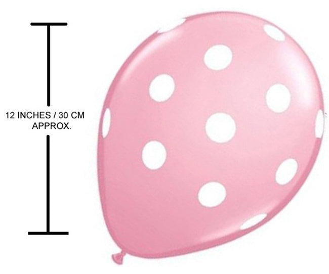 Pink And Brown Polka Dot Party Balloons-Birthday Parties,Cute Teddy Party