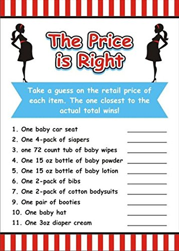 Baby Shower The Price is Right Game (Pack of 10)