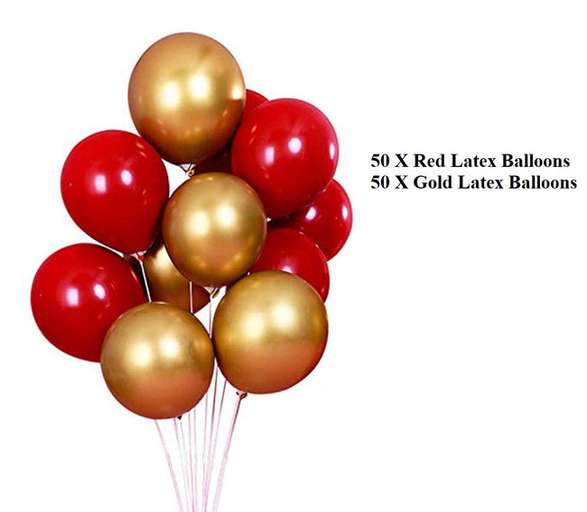 Happy Anniversary Decoration Combo, Happy Anniversary Balloon Banner - Gold Red Latex Balloons - Star & Heart Foil Balloons - Wedding Anniversary Party Decoration Photo Props