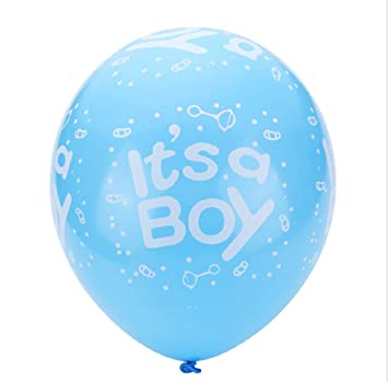 """IT'S A BOY "" Latex Party Balloon New Born  Baby Boy  Decorations"