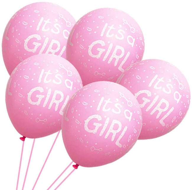 """IT'S A GIRL "" Latex Party Balloon New Born  Baby Girl  Decorations"