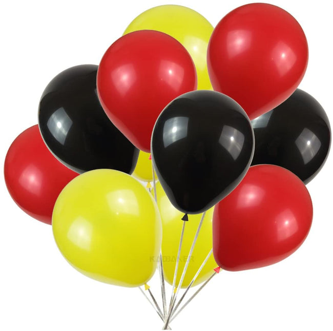 Yellow , Black and Red Latex  for  Birthday,Car Racing Theme  Party Decoration