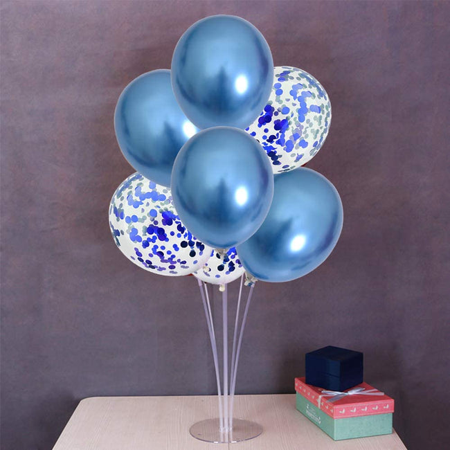 Balloons Stand Kit Table Decorations,2 Set with 16 pcs Balloons and Confetti Balloons