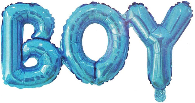 Boy Banner Balloon 16 inch Letters Helium Quality Foil Balloon for Baby Welcome/Shower Party Supply Decorations