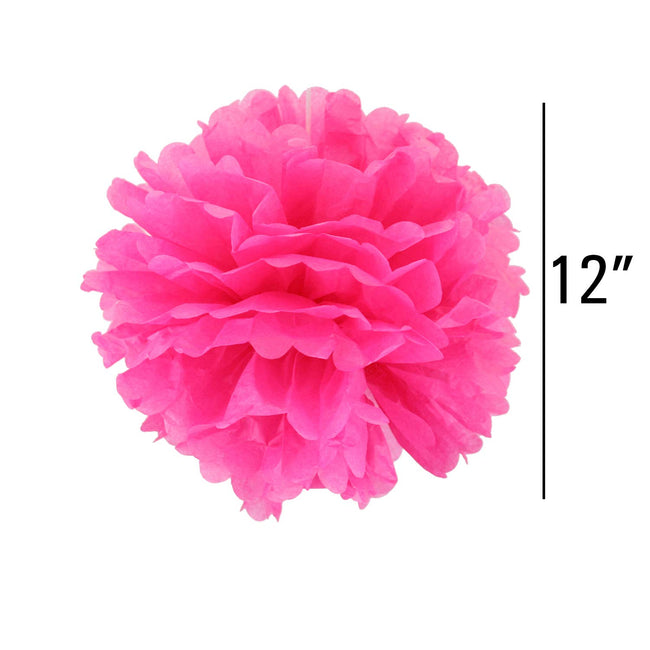 Pink Pom Pom flower Decoration  for birthday parties, Anniversary party & baby shower