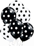 Black And White Polka Dot Party Balloons-Birthday Parties, New Year Parties, Graduation Ceremony.