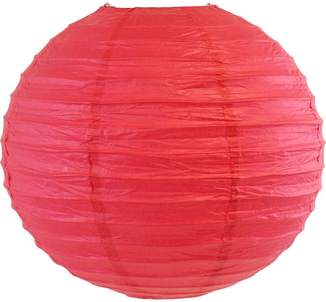 "Red and Green Paper Lanterns -12""inch GREAT FOR BIRTHDAY PARTIES, CHRISTMAS PARTY OR BABY SHOWER"