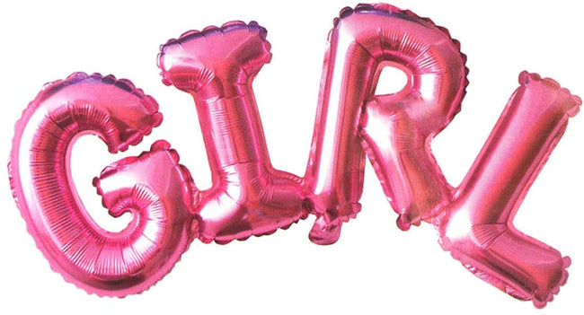 "It's A Girl Bottle shape foil balloon and ""Girl"" letter foil Balloon. Helium Quality Foil Balloon for Baby Showers Party Supply Decorations"