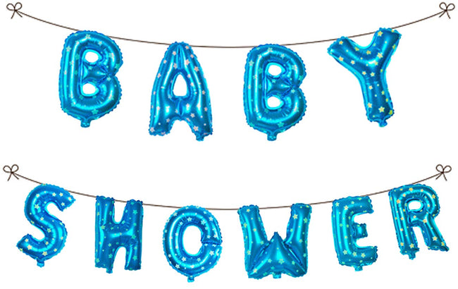 Baby Shower Foil  Banner Balloon 16 inch Letters Helium Quality Foil Balloon for Baby Welcome/Shower Party Supply Decorations