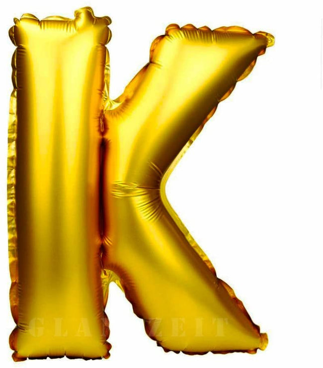 16 inch K  Alphabet Letter Balloons Birthday Balloons Gold Foil Letter Balloons Birthday Party Decorations Kids