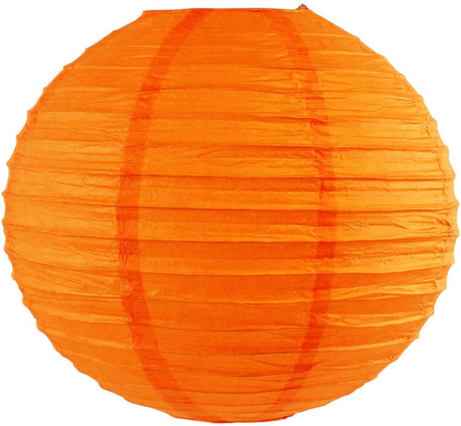 "Orange Paper Lanterns -12""Inch Great For Birthday Parties, Weddings Or Baby Shower"