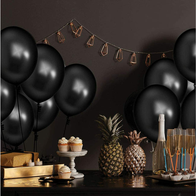 Metallic Balloons 9 Inch Thick, Latex Balloon Pack of 50, Decoration Kit for Birthday, Anniversary. Party Supplies.