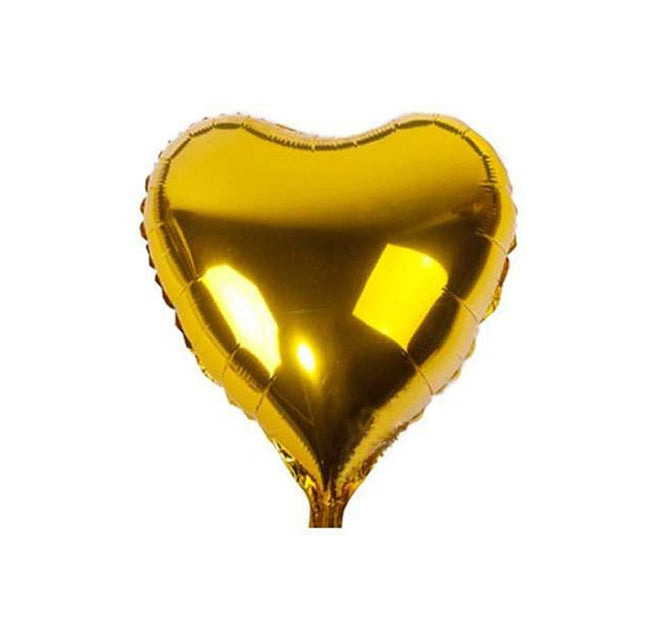 Happy 5th  Anniversary Balloon with 2 Heart Foil - Gold 5th Anniversary Party Decorations