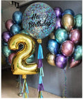 Chrome  shiny Thick balloons for Wedding, Birthday, Baby Shower, Christmas Party Decoration-  Multicolor