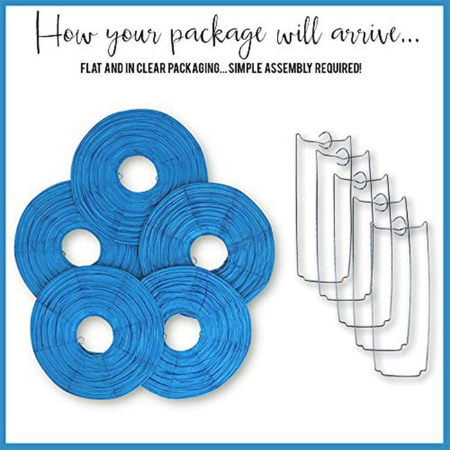 "Red Blue and White Paper Lanterns -12""inch  GREAT FOR BIRTHDAY PARTIES ,SUPER HERO Theme"