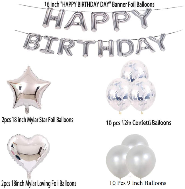 70Th Birthday Decorations Party Supplies,Silver Number 70 Balloons,70Th Foil Mylar Balloons Latex Balloon Decoration,Great 70Th Birthday Gifts For Girls,Women,Men,Photo Props