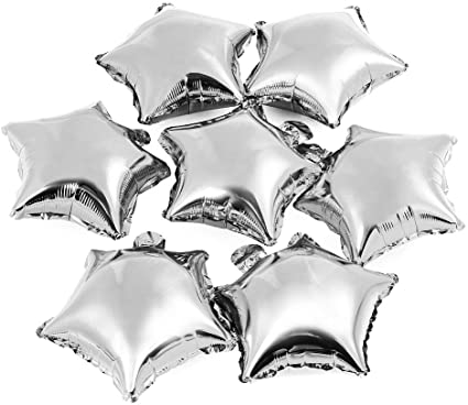 Silver Star Shape Foil Mylar Helium Balloon Birthday Party Decoration ,Foil Balloons
