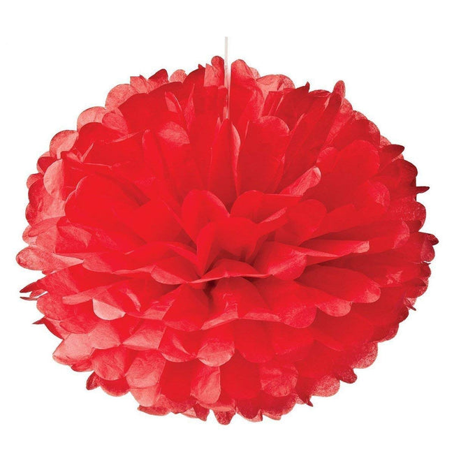 Red and Black  Pom Pom flower Decoration -Anniversary parties & Milestone birthday,Bachelor Parties,Car Racing ,Casino Theme
