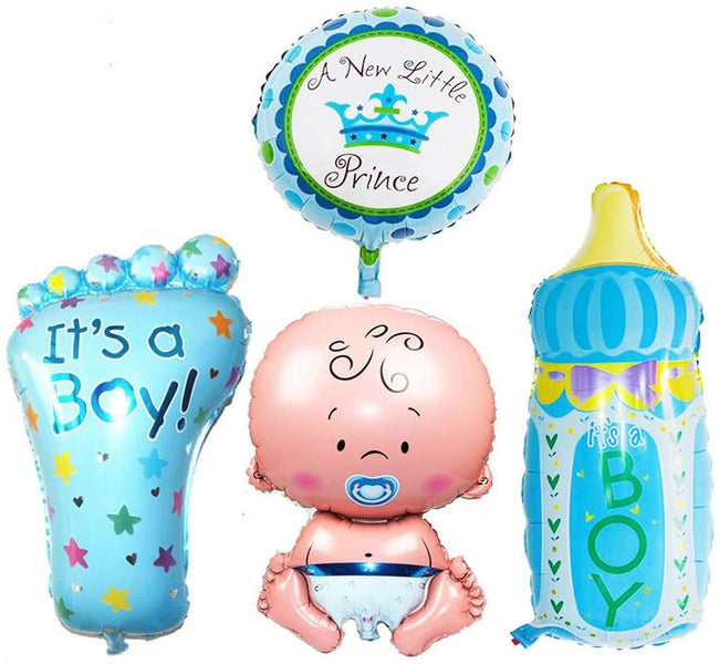 Baby  Boy Welcome Foil Balloons kit(pack of 4)- Baby Welcome.Baby Shower Decorations