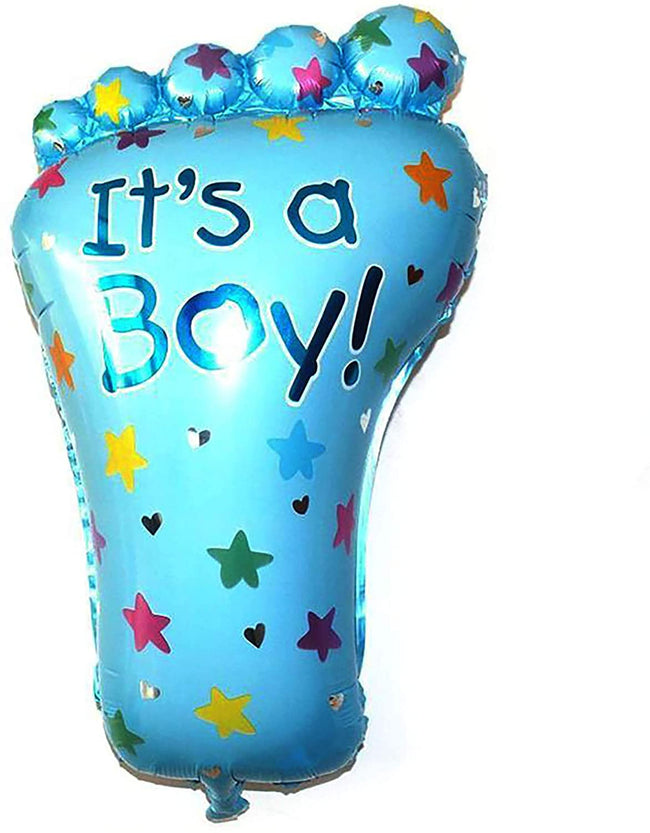Boy Foot  Baby  Balloon Helium Quality Foil Balloon for Baby Welcome/Shower Party Supply Decorations