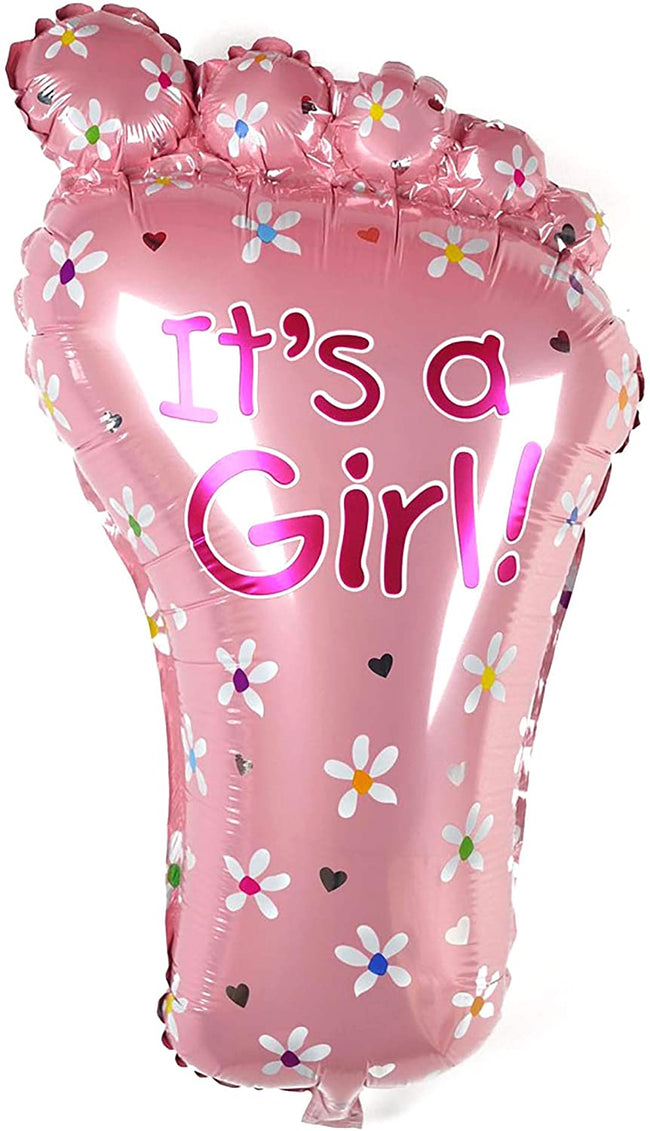 Girl Foot  Baby  Balloon Helium Quality Foil Balloon for Baby Welcome/Shower Party Supply Decorations
