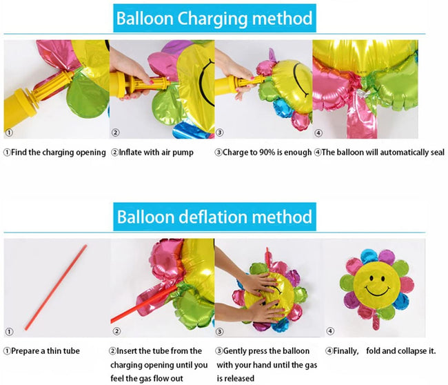 New 18 Inch Rainbow Digit Foil Birthday Party Balloons Number 7