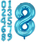 Blue digit Foil Birthday Party Balloon Number 8