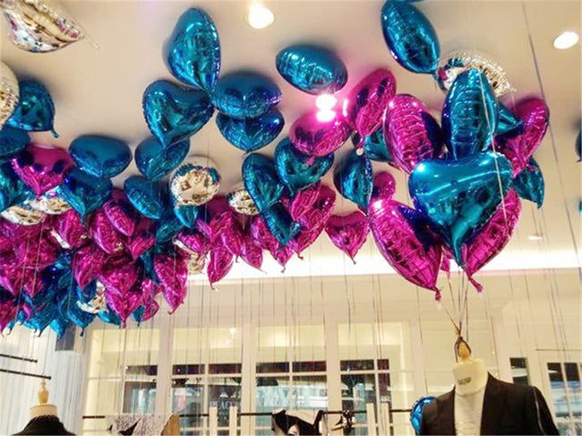 18 inch Blue Heart Balloons, Heart Shaped Balloons foil Love Balloons for Wedding Decoration Party Balloons Birthday
