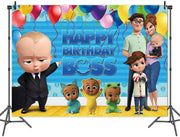 """BOSS BABY""BIRTHDAY PARTY BACKDROP FOR PHOTOGRAPHY BANNER KIDS EVENT CAKE TABLE DECOR HOME DECORATION PHOTO BOOTH BACKGROUND"