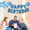 Decoration Set Blue-Happy Birthday Balloons Decorations set letter Balloons,Confetti Balloons and Giant Star Balloons