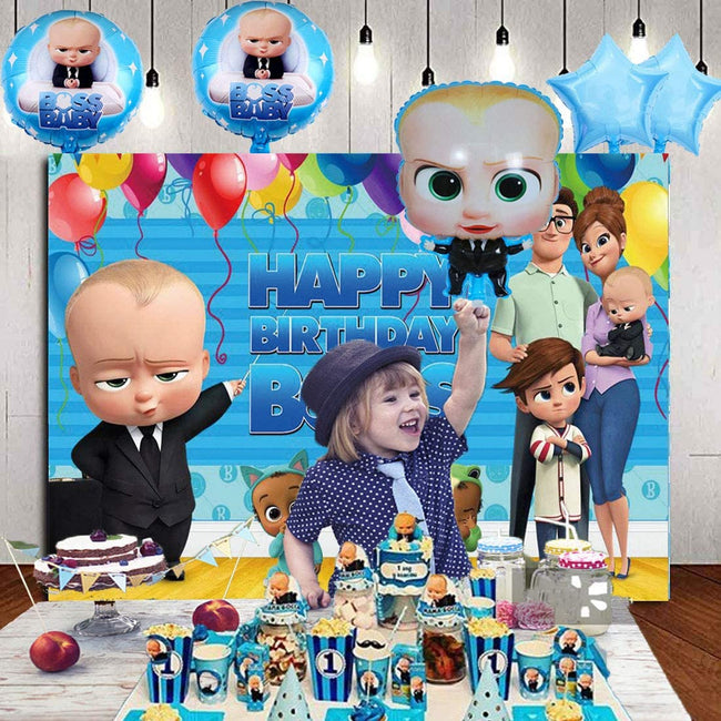 """BOSS BABY""  BIRTHDAY PARTY BACKDROP FOR PHOTOGRAPHY BANNER KIDS EVENT CAKE TABLE DECOR HOME DECORATION PHOTO BOOTH BACKGROUND"