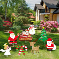 Christmas Outdoor/Indoor Cutout Decorations -Xmas Holiday Winter Wonderland Yard Sign Outdoor Lawn Yard Decorations