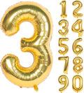 32 Inch Gold Digit Helium Foil Birthday Party Balloons Number 3