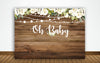 """OH BABY""- BABY SHOWER PARTY BACKDROP FOR PHOTOGRAPHY BANNER GIRL KIDS EVENT CAKE TABLE DECOR HOME DECORATION PHOTO BOOTH BACKGROUND"
