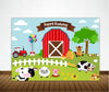 Barnyard Theme Birthday Party Backdrop For Photography Banner Girl Kids Event Cake Table Decor Home Decoration Photo Booth Background
